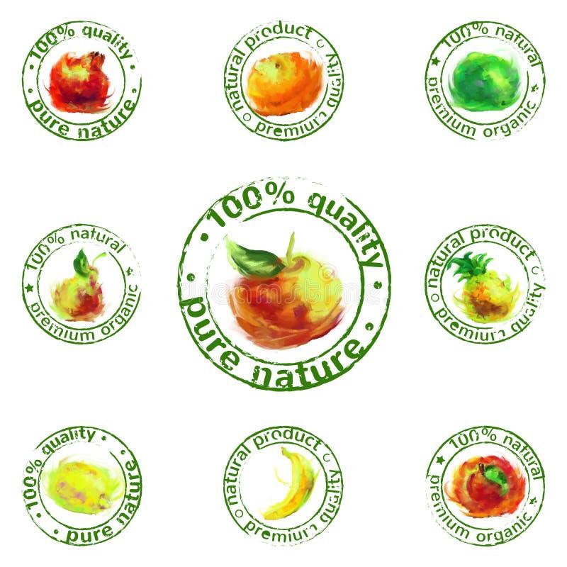 Vettore dipinto dell'icona della frutta royalty illustrazione gratis