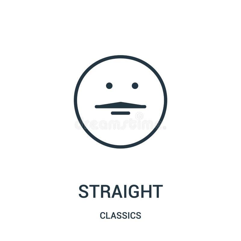 vettore diritto dell'icona dalla raccolta dei classici Linea sottile illustrazione diritta di vettore dell'icona del profilo Simb royalty illustrazione gratis