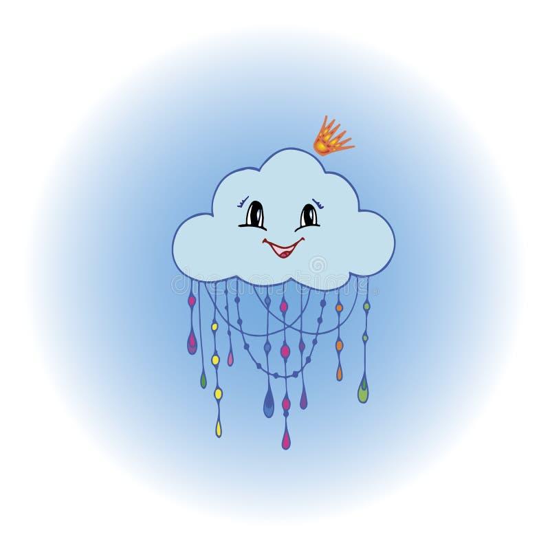 Vettore disegnato a mano di scarabocchio di sig.ra nube royalty illustrazione gratis
