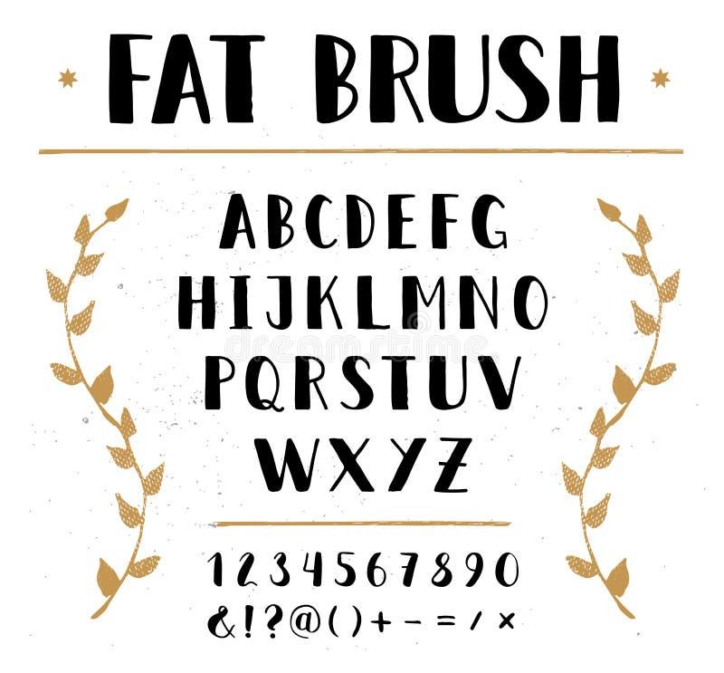 Vettore disegnato a mano senza l'alfabeto royalty illustrazione gratis