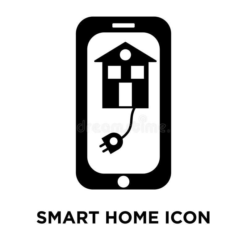 Vettore domestico astuto dell'icona isolato su fondo bianco, concep di logo illustrazione di stock