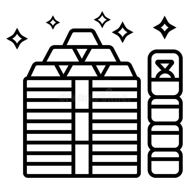 Vettore dorato dell'icona illustrazione vettoriale