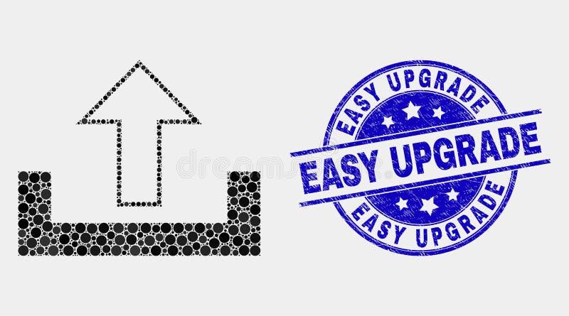 Vettore Dot Upload Icon e guarnizione facile di aggiornamento di emergenza illustrazione di stock