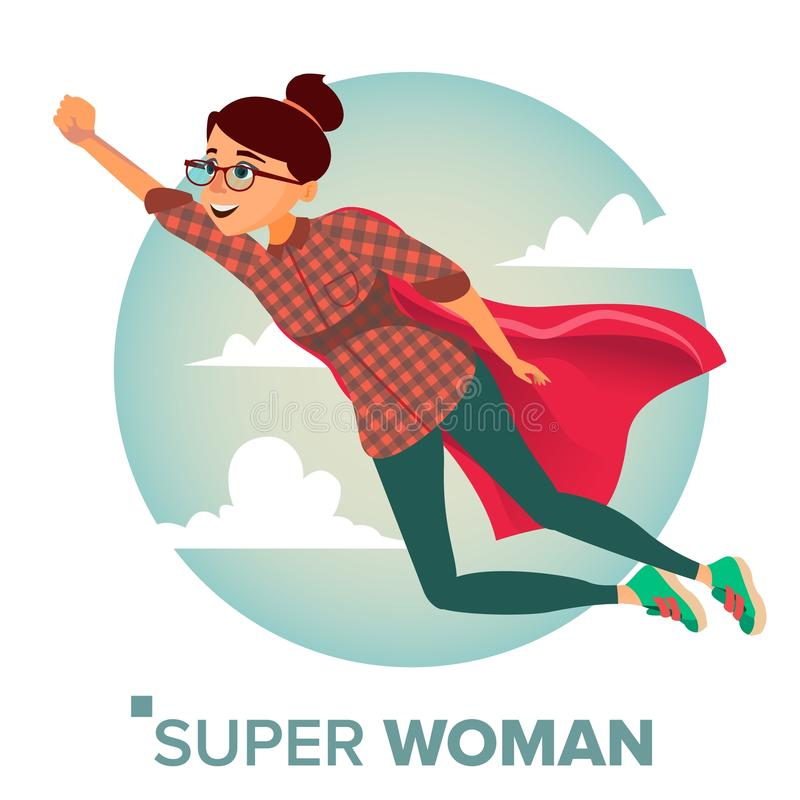 Vettore eccellente del carattere della donna di affari Capo rosso Concetto di direzione Donna eccellente di affari moderni creati illustrazione di stock