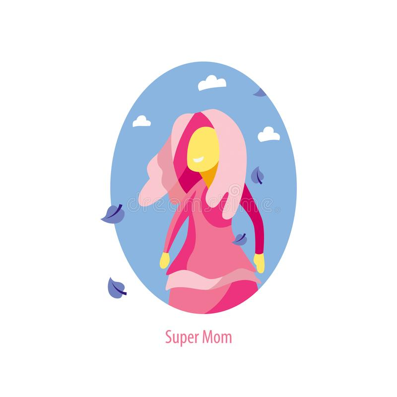 Vettore eccellente del carattere della madre Oggetto separato royalty illustrazione gratis