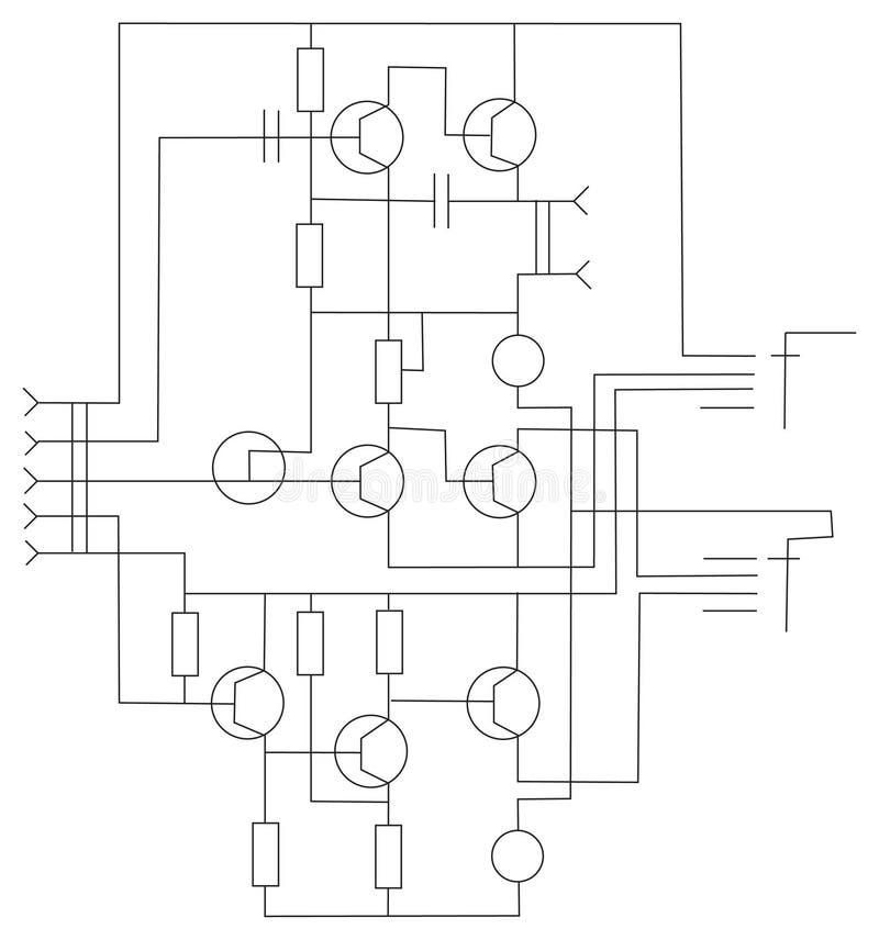 Vettore elettronico di schema royalty illustrazione gratis