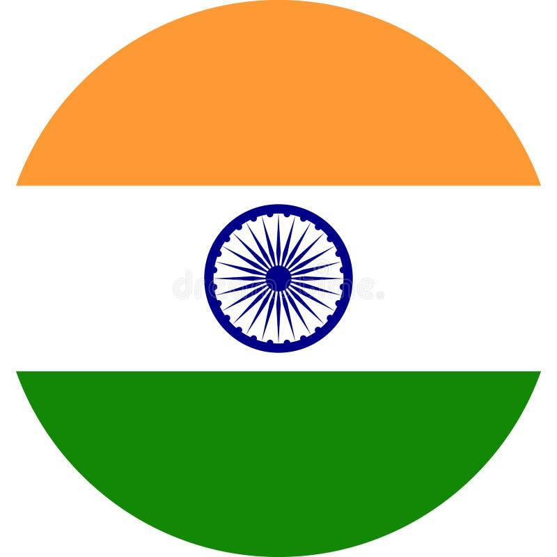 Vettore ENV dell'illustrazione della bandiera dell'India royalty illustrazione gratis