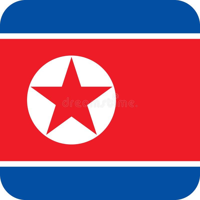 Vettore ENV dell'illustrazione della Corea del Nord Asia della bandiera royalty illustrazione gratis