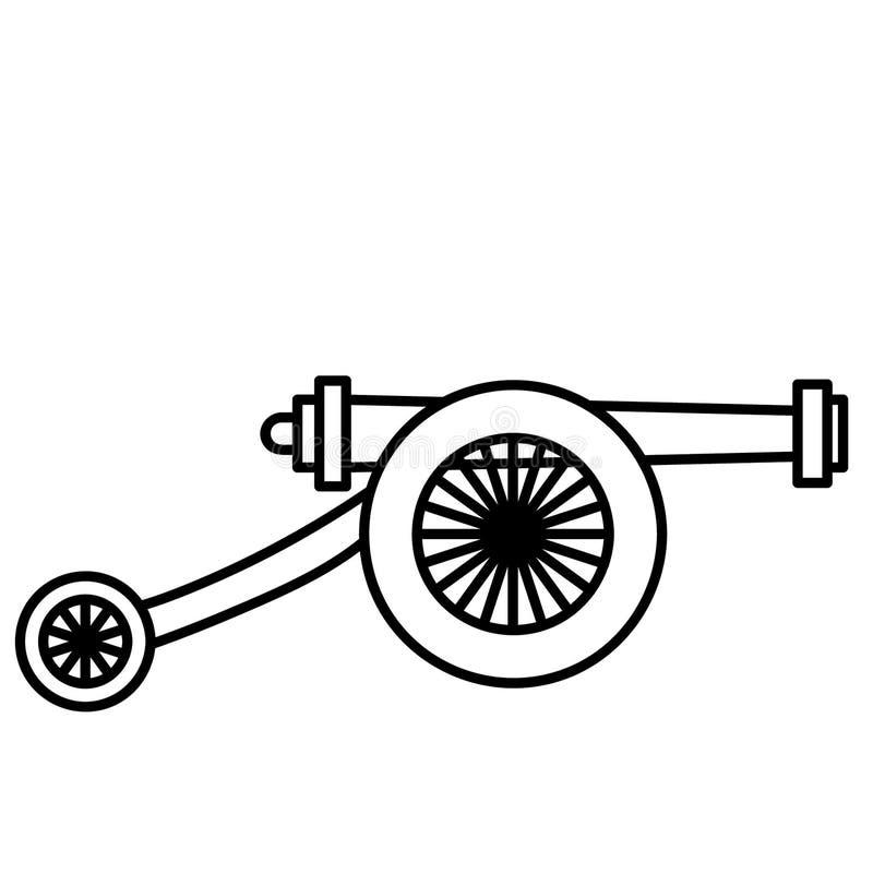 Vettore ENV disegnato a mano, vettore, ENV, logo, icona, crafteroks, illustrazione del cannone della siluetta per gli usi differe illustrazione vettoriale