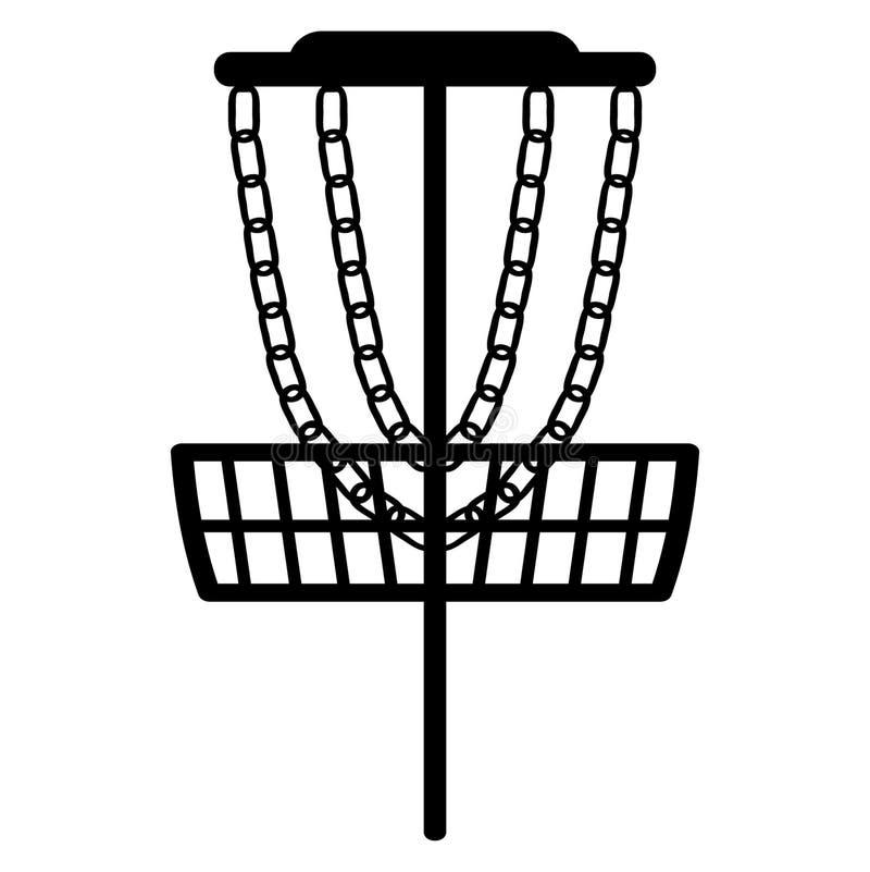 Vettore ENV disegnato a mano, vettore, ENV, logo, icona, crafteroks, illustrazione di frisbee di golf del disco della siluetta pe royalty illustrazione gratis