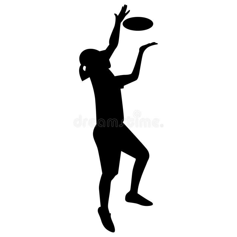 Vettore ENV disegnato a mano, vettore, ENV, logo, icona, crafteroks, illustrazione di frisbee di golf del disco della siluetta pe illustrazione vettoriale