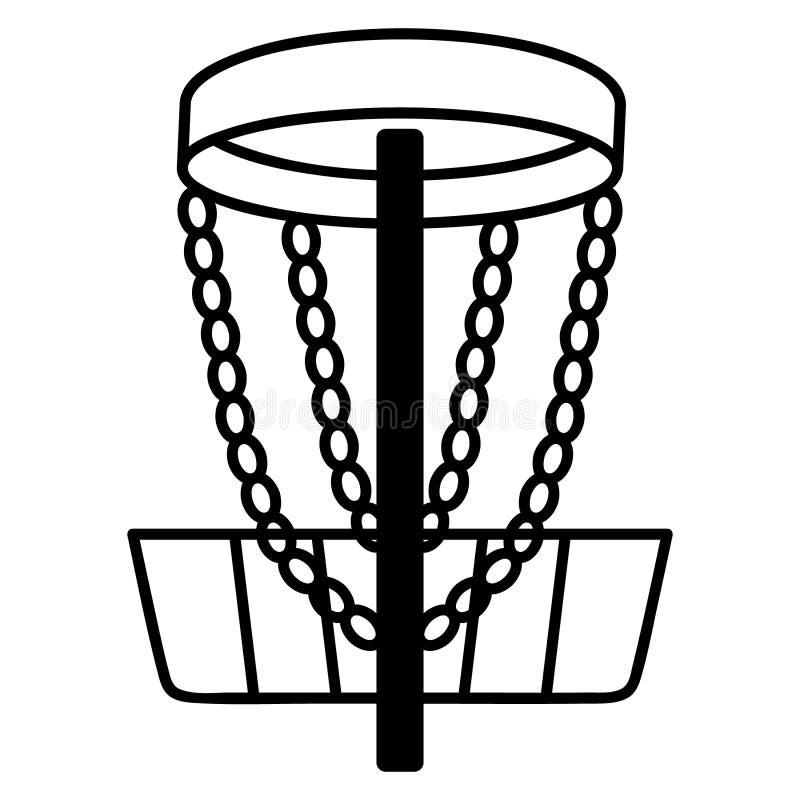Vettore ENV disegnato a mano, vettore, ENV, logo, icona, crafteroks, illustrazione di frisbee di golf del disco della siluetta pe illustrazione di stock