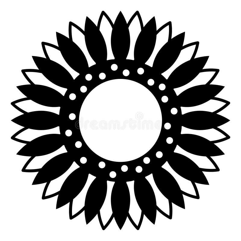 Vettore ENV disegnato a mano, vettore, ENV, logo, icona, illustrazione del girasole della siluetta dai crafteroks per gli usi dif illustrazione vettoriale