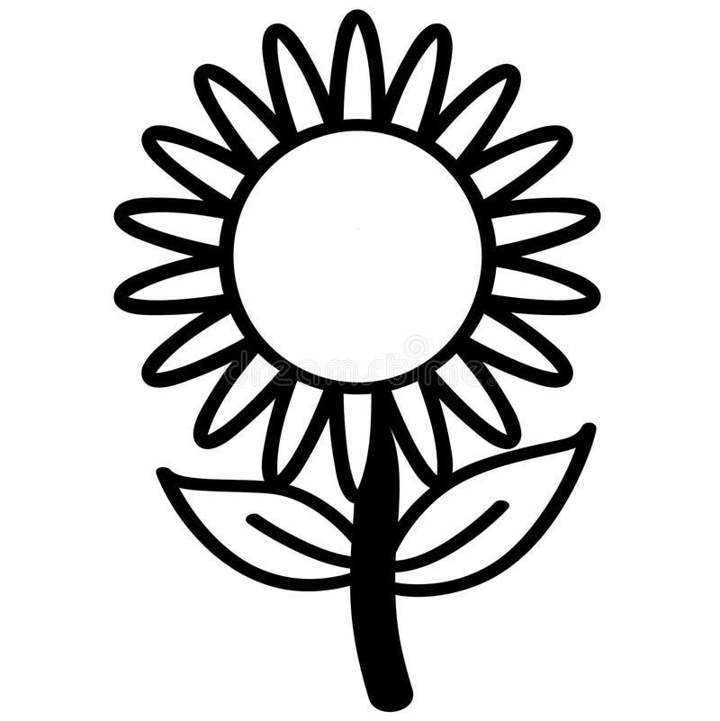 Vettore ENV disegnato a mano, vettore, ENV, logo, icona, illustrazione del girasole della siluetta dai crafteroks per gli usi dif royalty illustrazione gratis