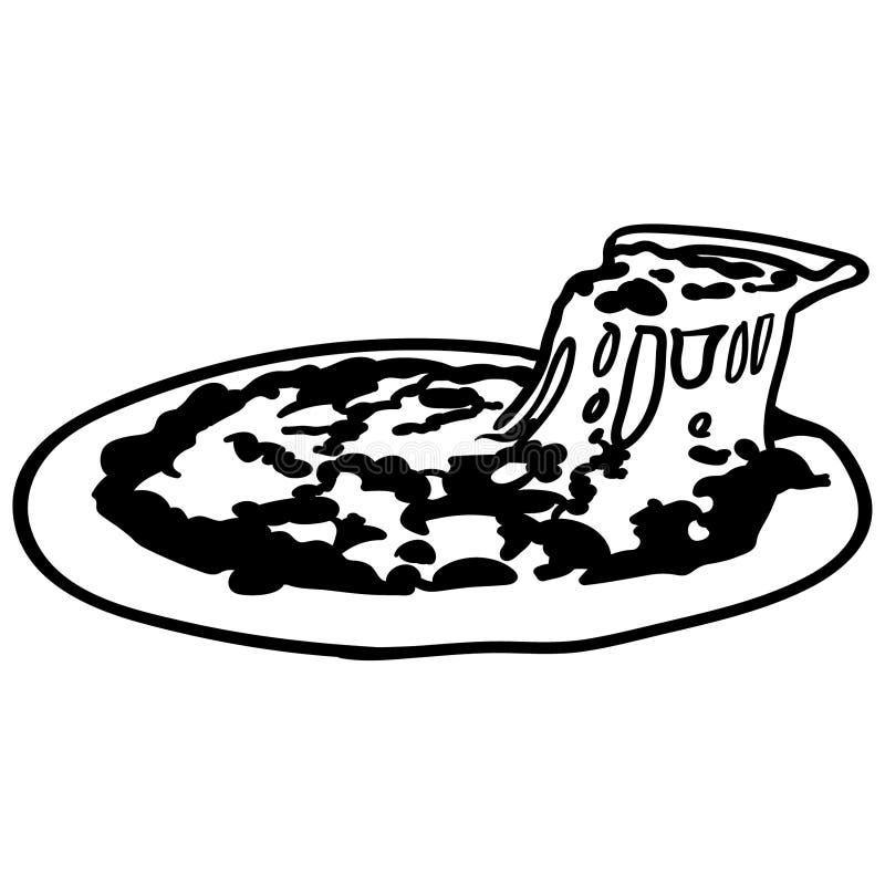 Vettore ENV disegnato a mano, vettore, ENV, logo, icona, illustrazione della fetta della pizza della siluetta dai crafteroks per  illustrazione vettoriale