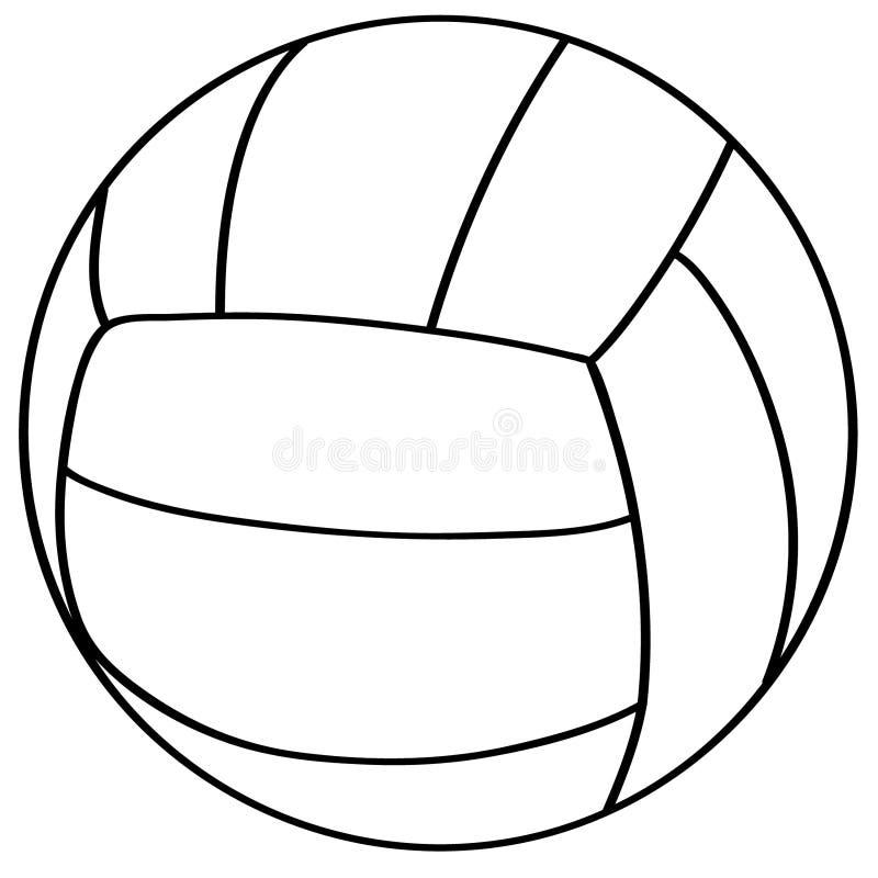 Vettore ENV disegnato a mano, vettore, ENV, logo, icona, illustrazione di pallavolo della siluetta dai crafteroks per gli usi dif illustrazione di stock