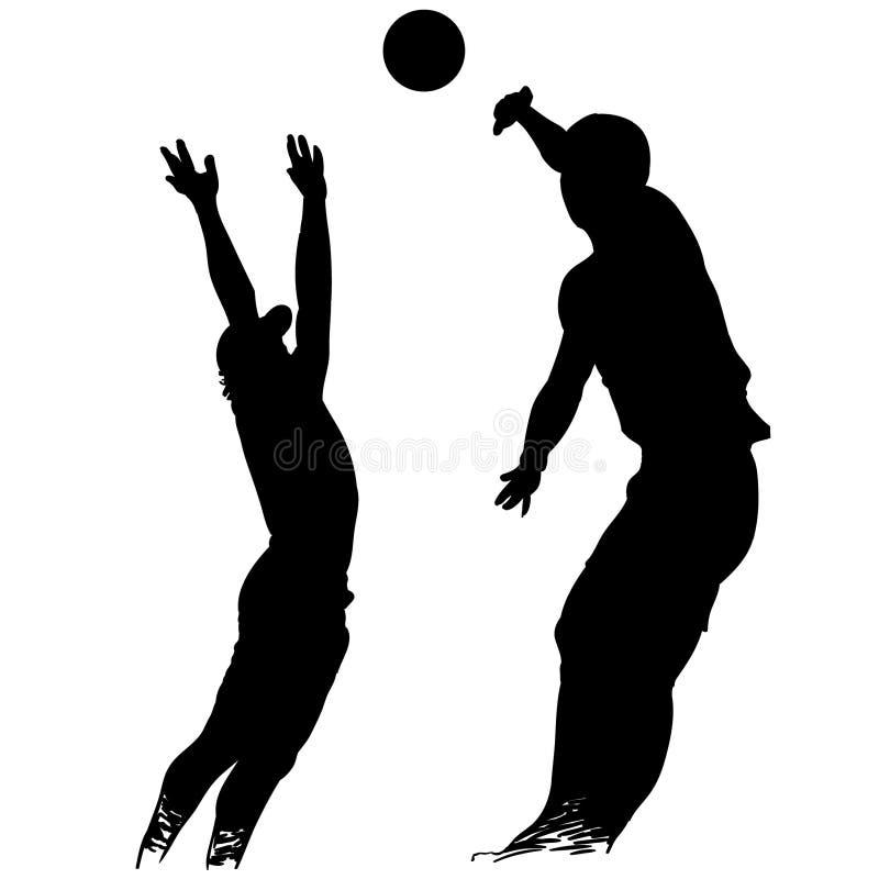 Vettore ENV disegnato a mano, vettore, ENV, logo, icona, illustrazione di pallavolo della siluetta dai crafteroks per gli usi dif illustrazione vettoriale
