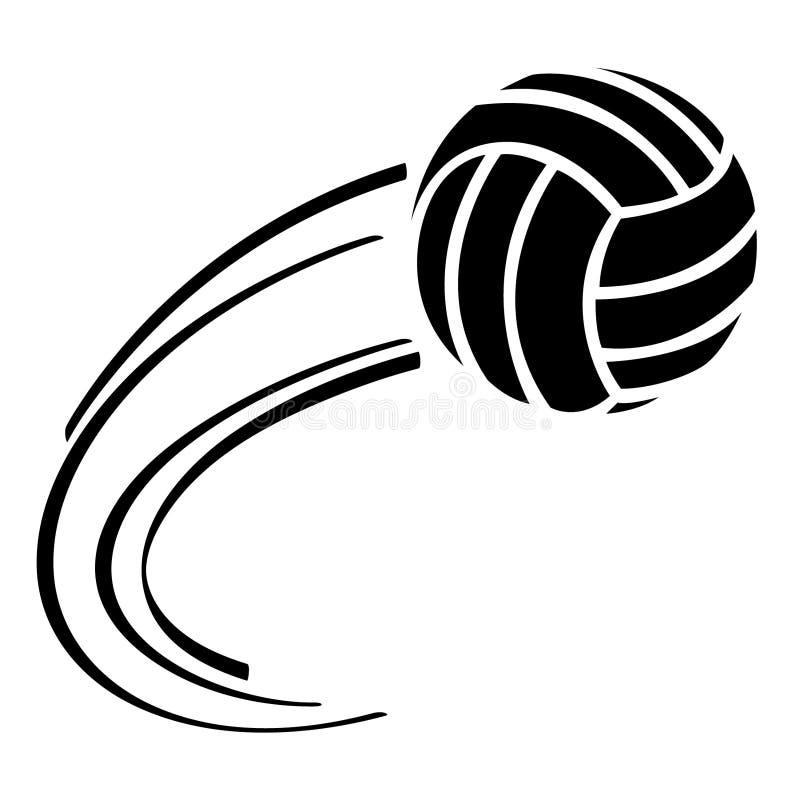 Vettore ENV disegnato a mano, vettore, ENV, logo, icona, illustrazione di pallavolo della siluetta dai crafteroks per gli usi dif royalty illustrazione gratis