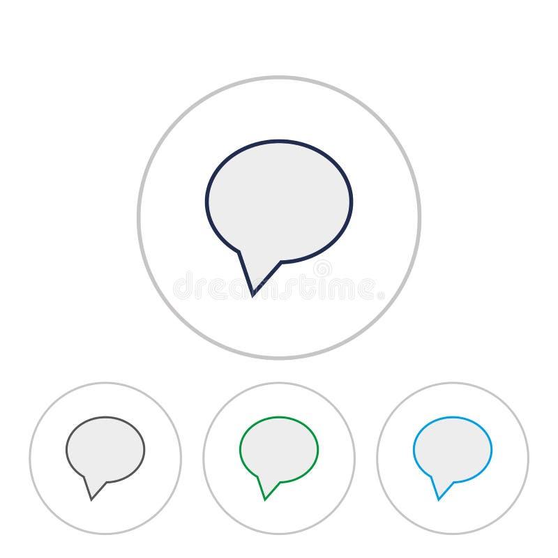 Vettore eps10 dell'icona di sostegno Seli metta in contatto con segno fumetto nel cerchio illustrazione di stock