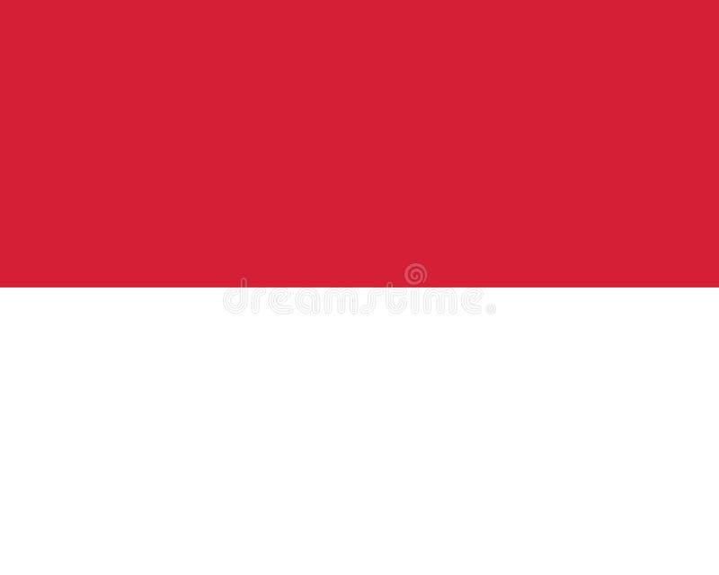Vettore eps10 della bandiera del Monaco Icona di vettore della bandiera del Monaco illustrazione vettoriale