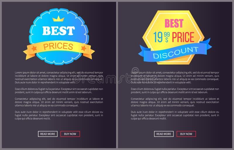 Vettore esclusivo caldo del manifesto di web di prezzi del migliore prodotto illustrazione di stock