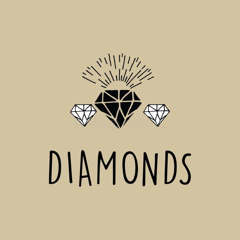 Vettore esclusivo dei diamanti con l'esplosione solare illustrazione di stock