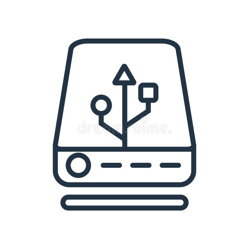 Vettore esterno dell'icona isolato su fondo bianco, segno esterno illustrazione vettoriale