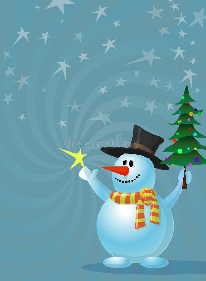 Vettore felice del pupazzo di neve di feste disponibile L'archivio di AI 10 illustrazione di stock