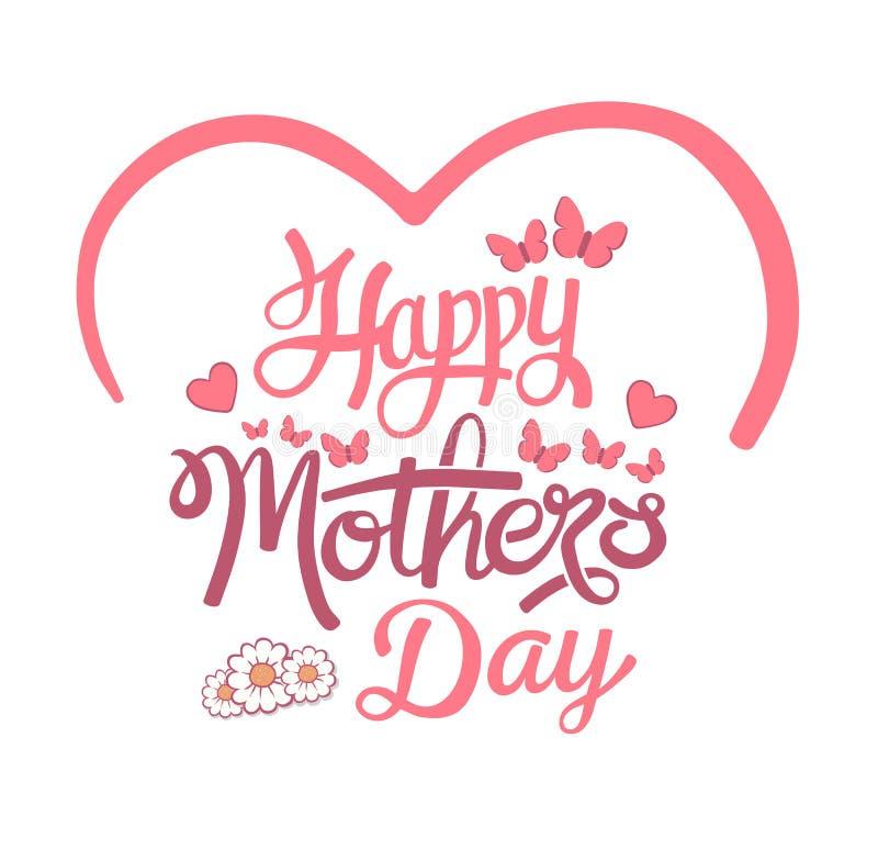 Vettore felice di giorno di madri illustrazione di stock