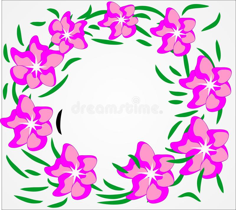 Vettore, fiori, estate, fondo floreale, colori luminosi, astrazione per un fondo floreale illustrazione vettoriale