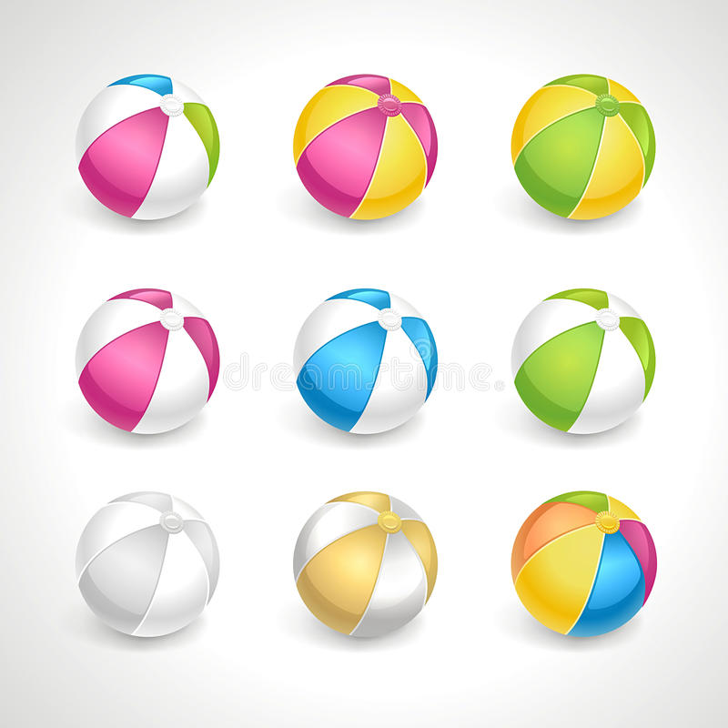 Vettore fissato beach ball immagine stock