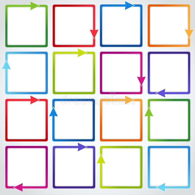 Vettore fissato: Frecce variopinte illustrazione di stock