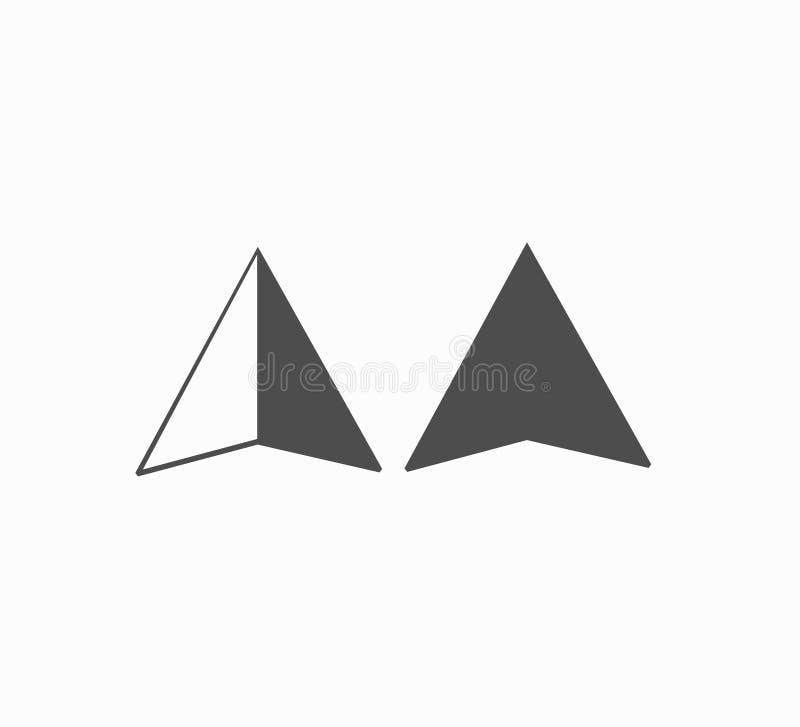 Vettore fissato - geolocation piano delle icone di progettazione, posizione, ricerca della mappa Icona di vettore per lo smartpho illustrazione di stock