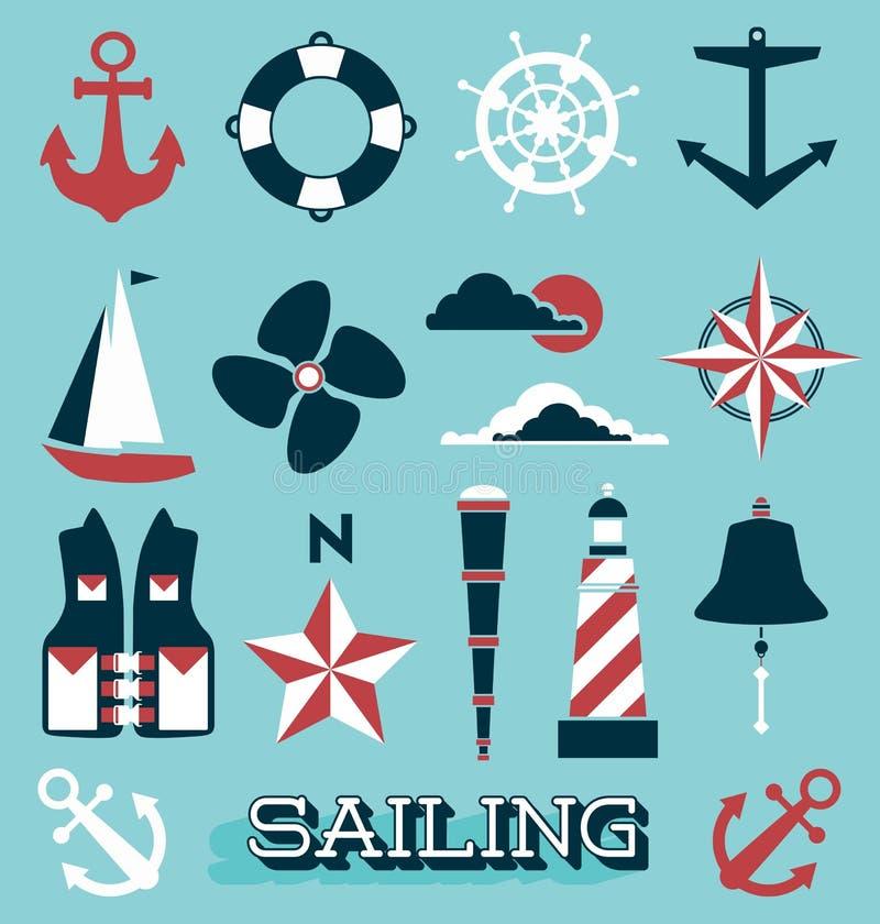 Vettore fissato: Navigazione le icone e delle etichette illustrazione vettoriale