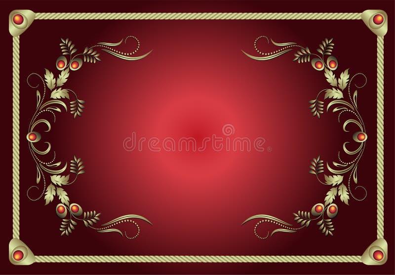 Vettore floreale della struttura rossa royalty illustrazione gratis