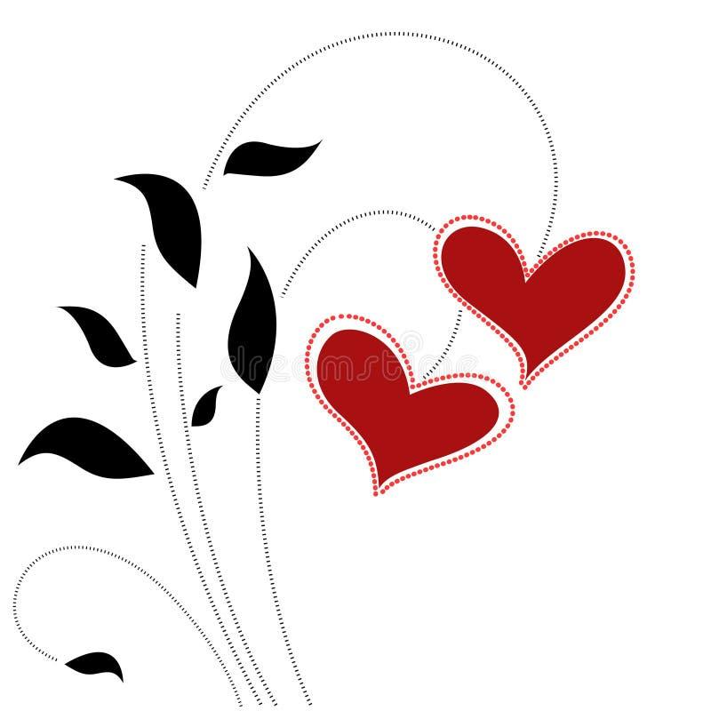 Vettore floreale di concetto di amore illustrazione vettoriale