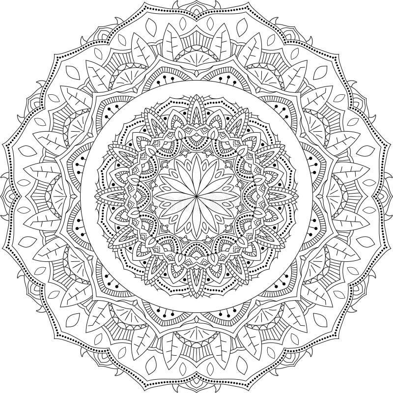 vettore floreale isolato della mandala immagini stock