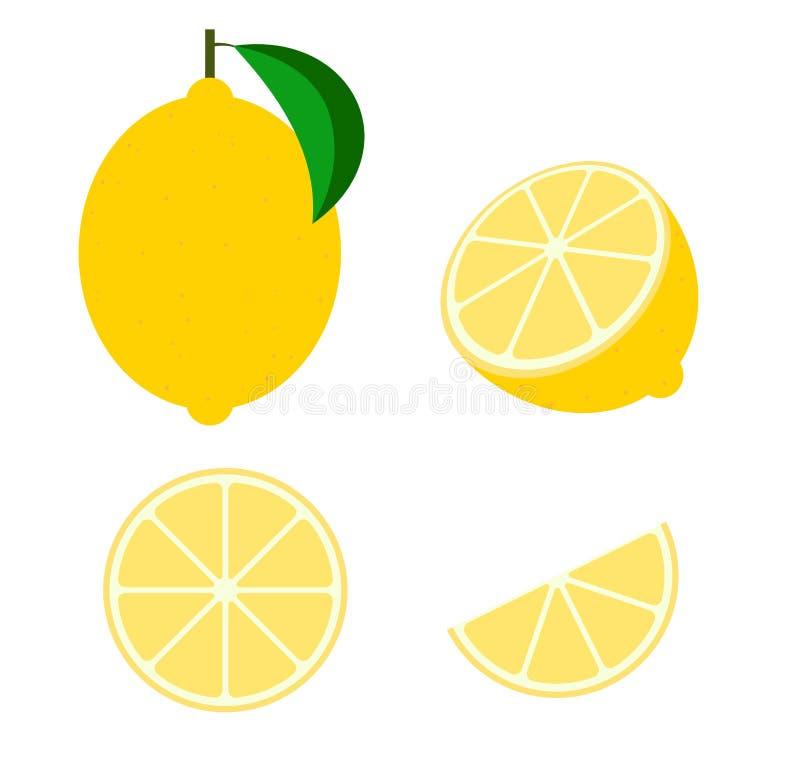 Vettore fresco della frutta del limone illustrazione vettoriale