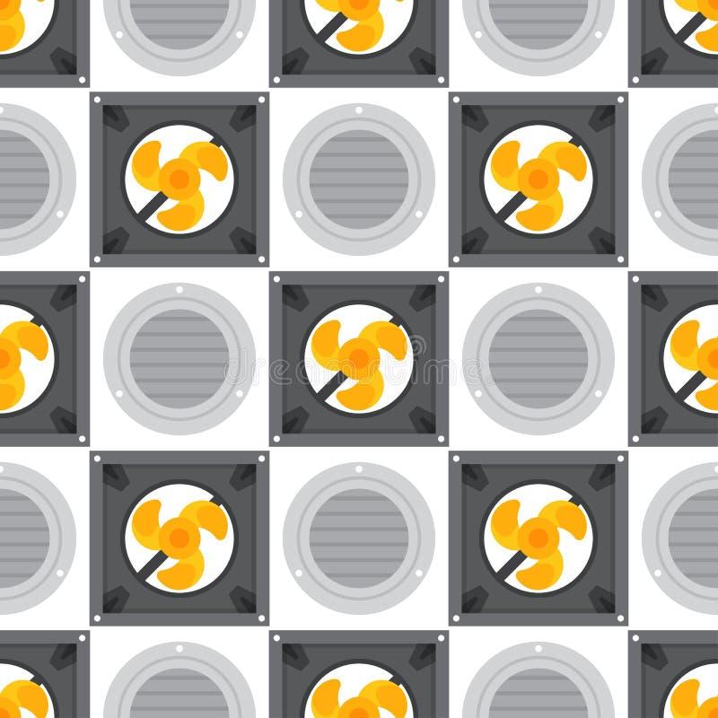 Vettore fresco di condizionamento di temperatura di tecnologia del fan di clima del ventilatore senza cuciture del modello dei si royalty illustrazione gratis