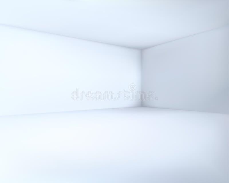 Vettore fresco vuoto dell'angolo della stanza bianca illustrazione di stock