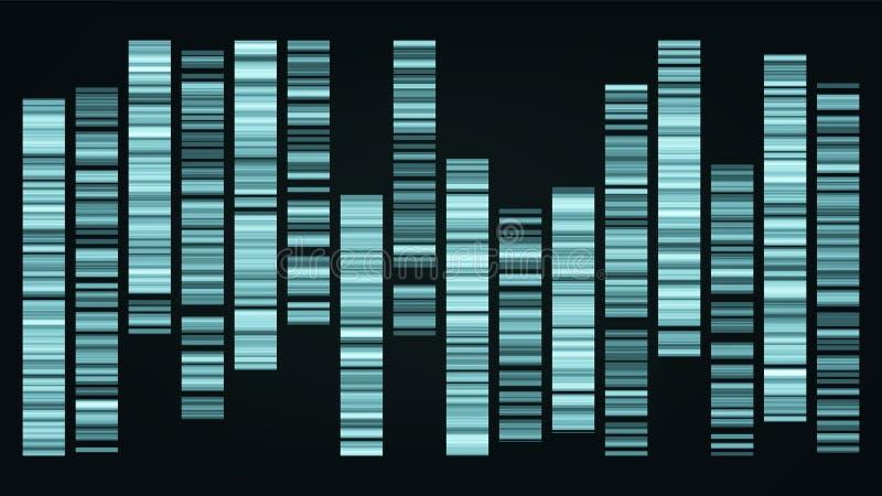 Vettore genomica di visualizzazione di dati di colore di progettazione grande illustrazione di stock