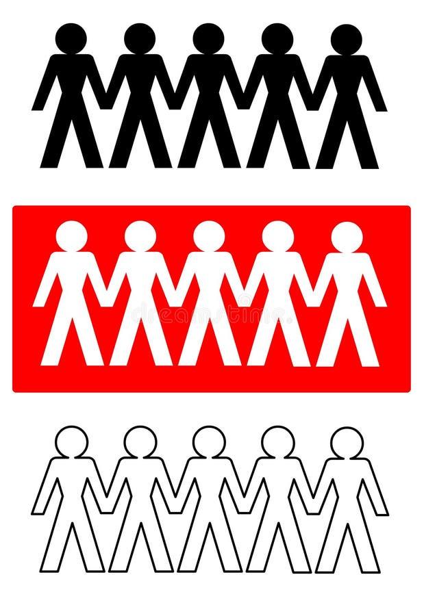 Vettore - gente connettente fotografie stock libere da diritti
