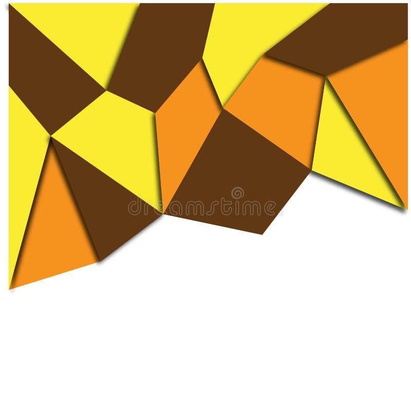 Vettore geometrico astratto variopinto professionale del fondo illustrazione di stock