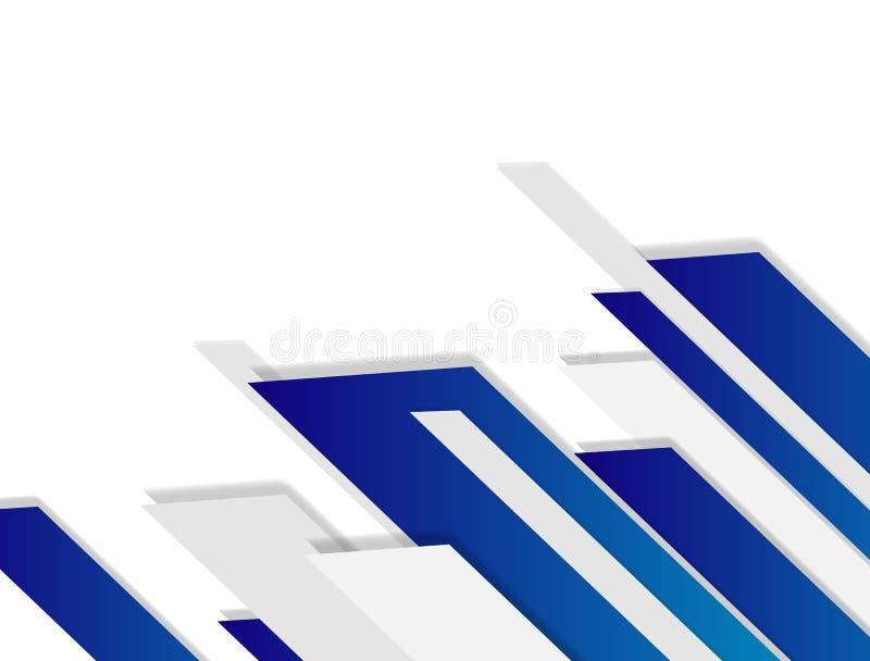 Vettore geometrico bianco e grigio del fondo astratto di tecnologia di progettazione moderna del fondo illustrazione vettoriale