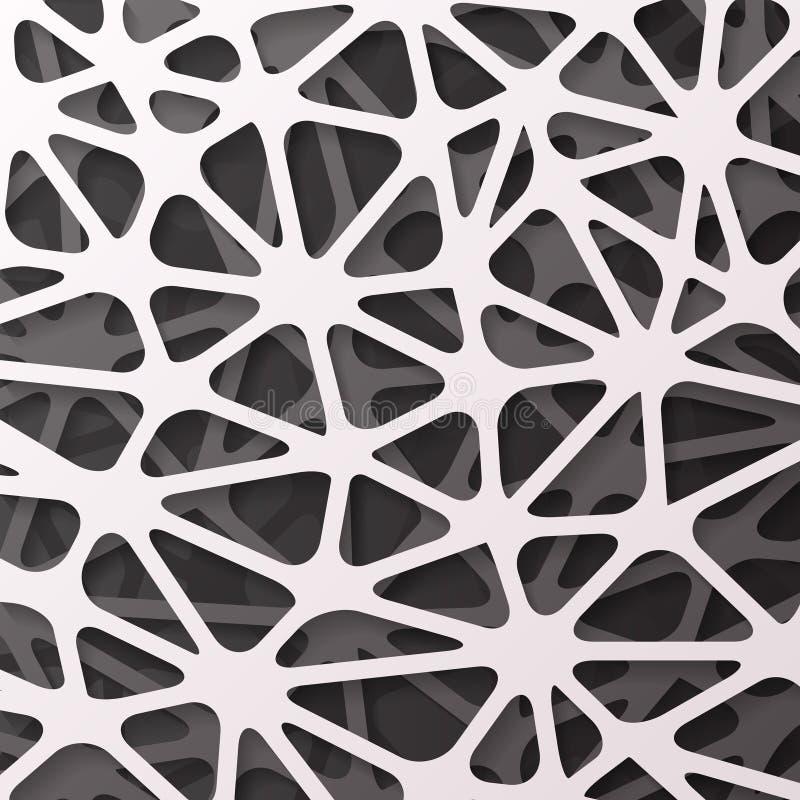 Vettore geometrico del modello dell'elemento dell'aletta di filatoio dell'opuscolo di progettazione della decorazione 3d del fond royalty illustrazione gratis