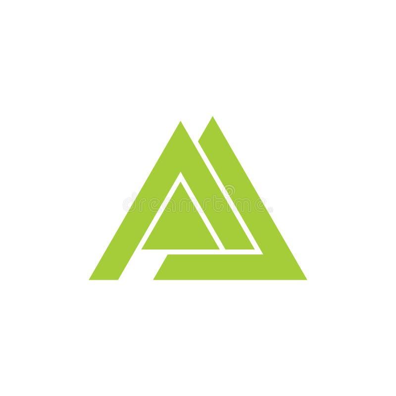 Vettore geometrico di logo del triangolo della montagna della lettera m. royalty illustrazione gratis