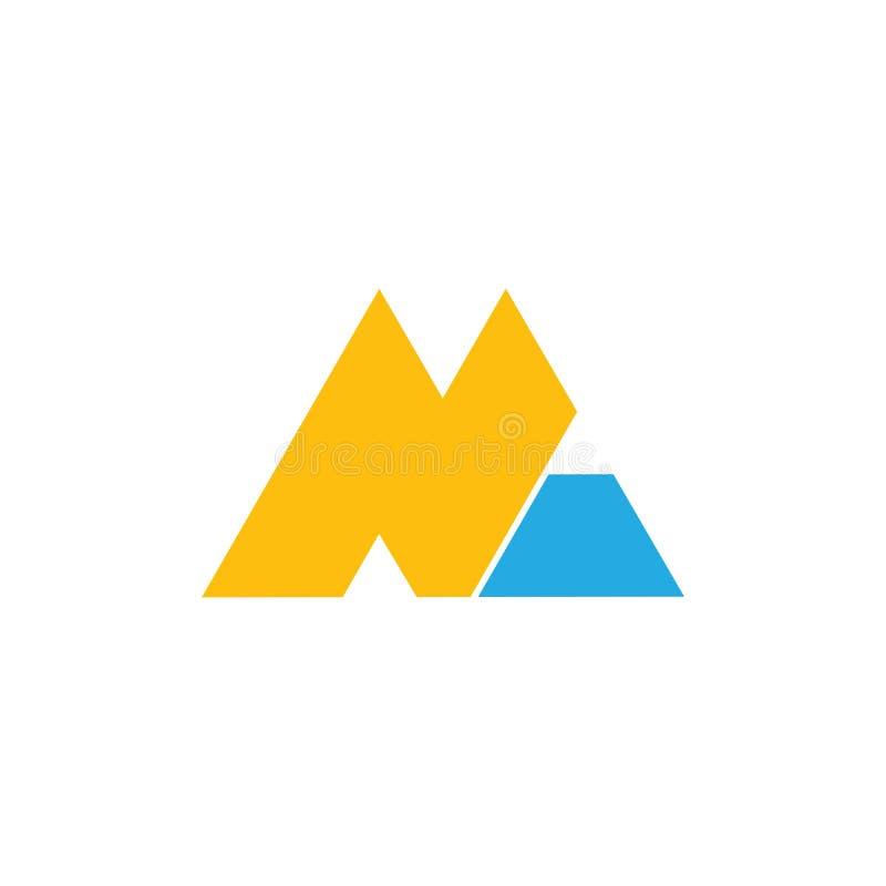 Vettore geometrico di logo della lettera di tuono astratto di nanometro illustrazione vettoriale