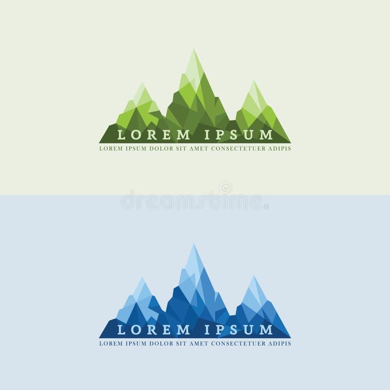 Vettore geometrico di logo della montagna Eyecatching fotografia stock libera da diritti
