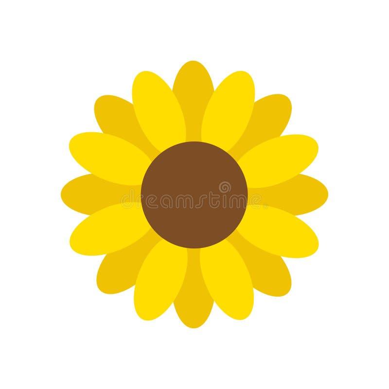 Vettore giallo del fiore del girasole illustrazione vettoriale