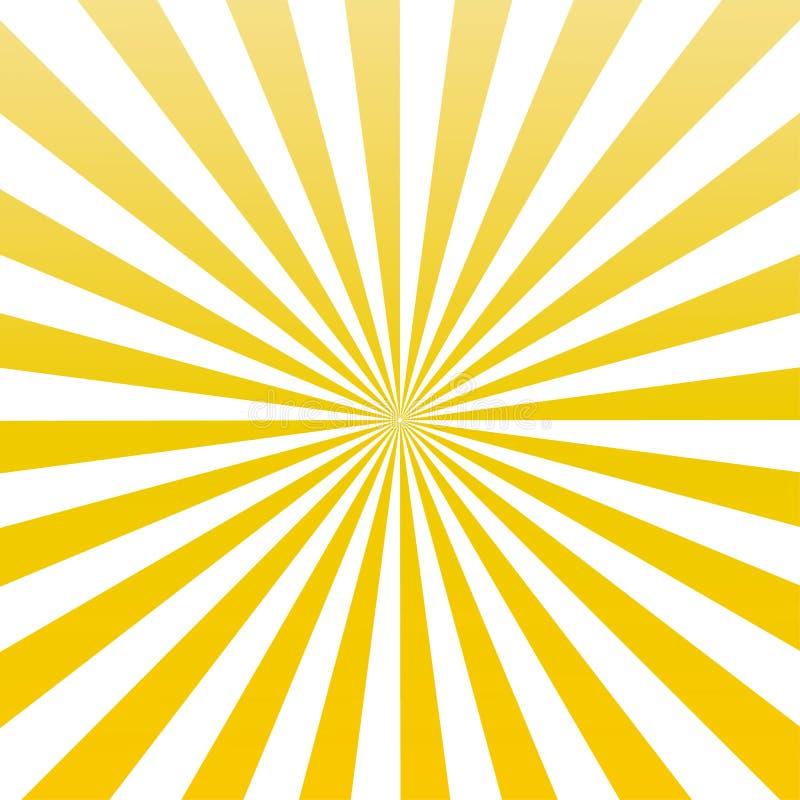 Vettore giallo eps10 del modello dello sprazzo di sole dei raggi del sole di colore fondo giallo dello sprazzo di sole dei raggi  royalty illustrazione gratis